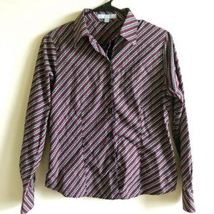 Foxcroft Wrinkle Free Fitted Button Down Top